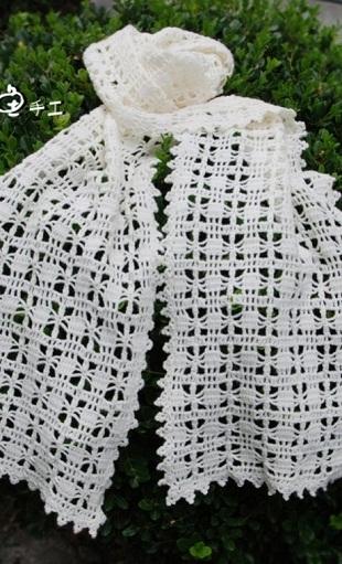 Схемы шарфиков крючком