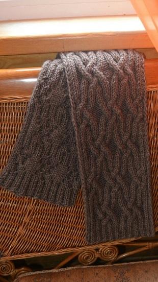 Схема узора для шарфа