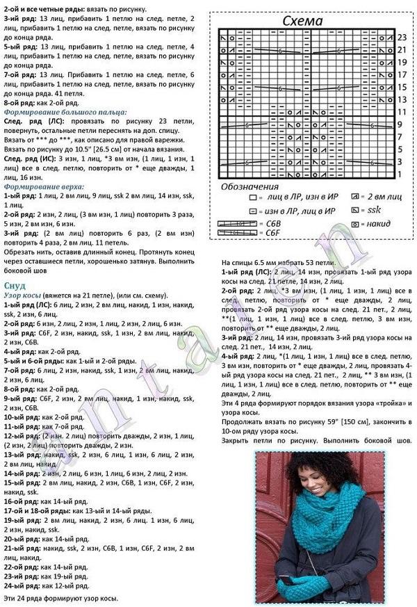 Как связать шарф - 36 моделей и схем с описанием для начинающих 73