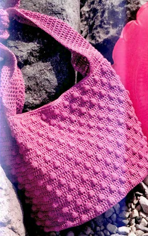 Фото Схема вязания крючком пляжной сумки.