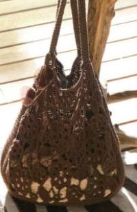 """вязание крючком. написала.  Схема летней сумки крючком.  Удивительная летняя сумочка, которая добавит  """"изюминку """" в..."""