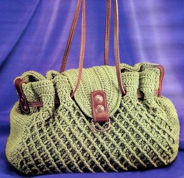 вязание крючком.  Вязанная сумочка. сумки.