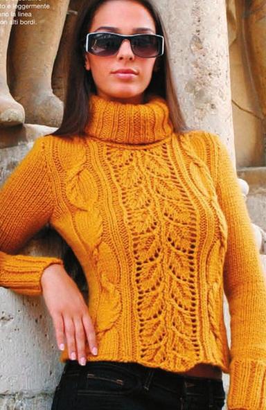 Схема вязания свитера спицами. свитер.  Yaromila Volkova. араны. ажур. изменено 4 ноября 2012 года,в 11:34.
