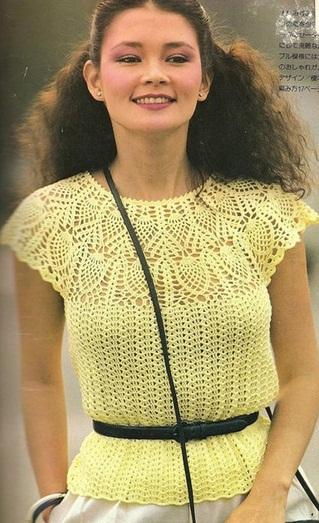 Летние Кофты Вязанные Спицами Летние топы, маечки для женщин спицами Журнал - Вязание модно и просто.