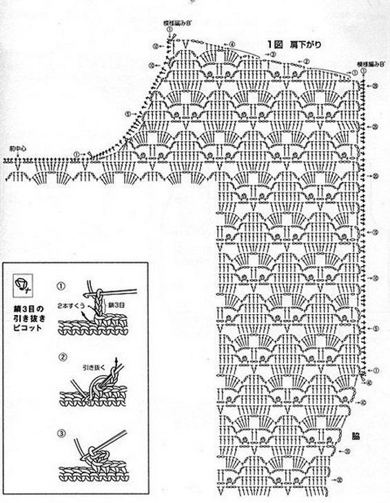 Японские схемы по вязанию крючком