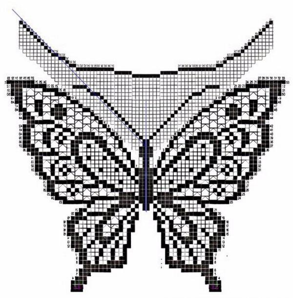 Узор Вязания Бабочки Для Футболки Блузки