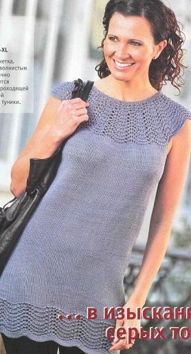 Вязание спицами - туника