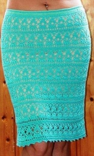 Вязание летней юбки крючком