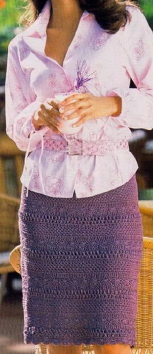 Модная юбка крючком