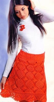 Вязание крючком - юбка