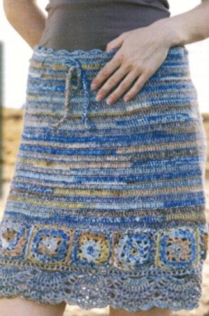 Схема вязания юбки крючком