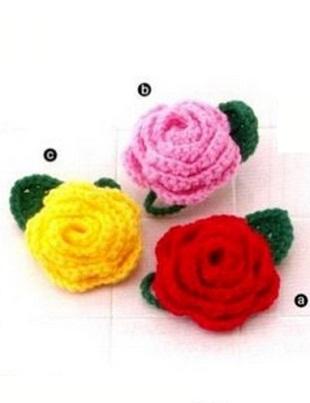 Розы крючком