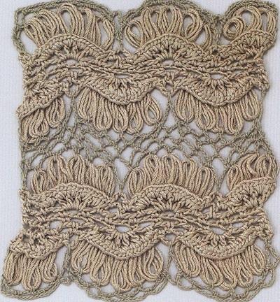 схемы ажурных узоров шалей крючком