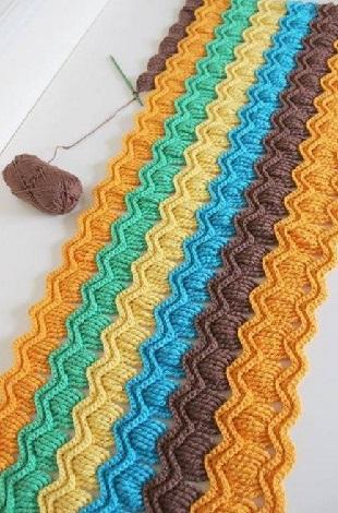 Вязание цветного узора крючком