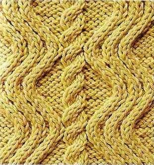 Узоры вязания косой