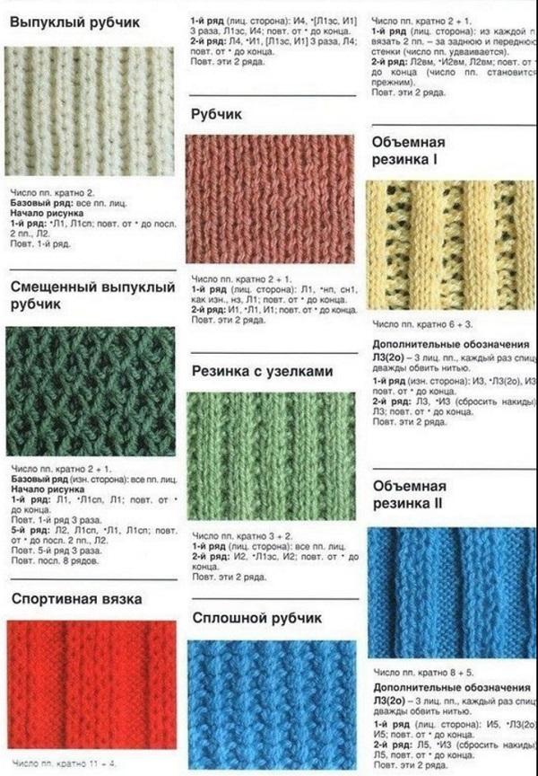 Схемы рельеф для вязания 47