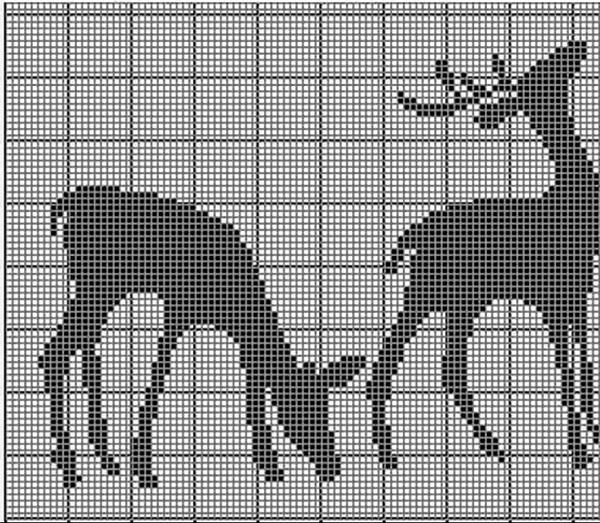 Вязание орнаменты и животные
