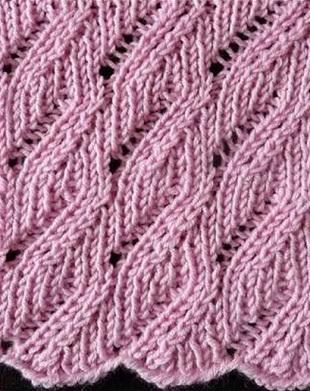 Вязание красивого узора