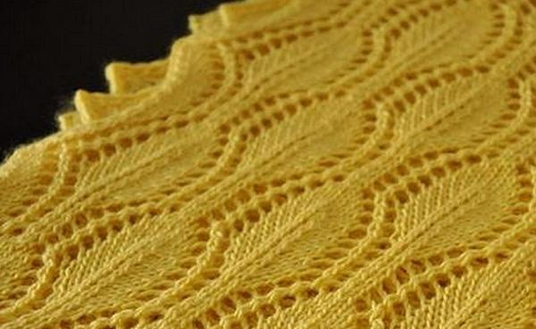 Ажурный шарф-снуд и шапочка схема спицами » люблю вязать.