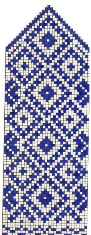 Кокетка с орнаментом спицами схемы