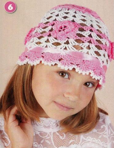 Схемы вязания детских шапочек