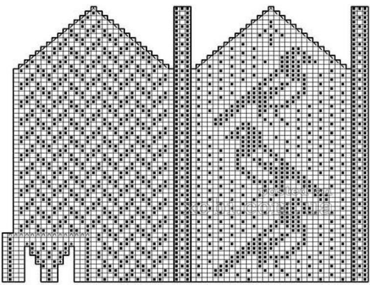 рисунок для вязания варежек на спицах вязание спицами и крючком