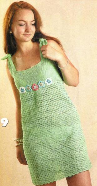 Вязаные платья сарафаны схемы.