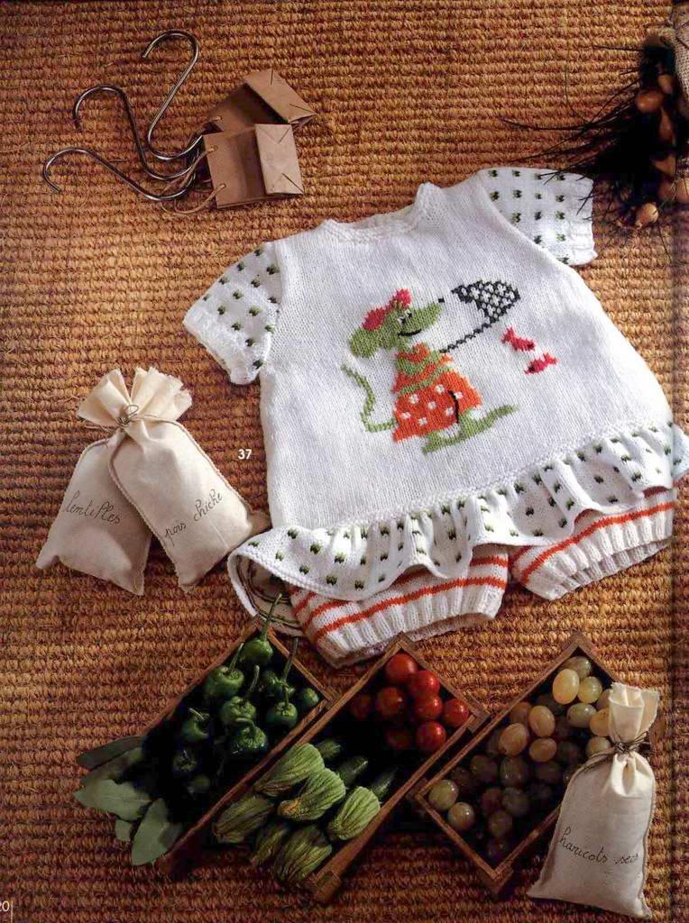 Костюмчик для маленькой модницы.Вязание для детей.