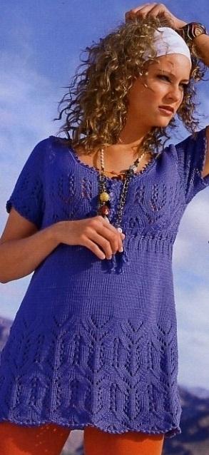 Яркая летняя туника из хлопка - это удобная и практичная вещь.  Ее можно одеть и с легинсами, и с шортами...